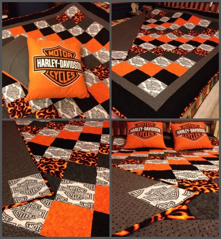 38 best harley quilts images on pinterest longarm quilting Cozy New Harley Davidson Fabric For Quilting