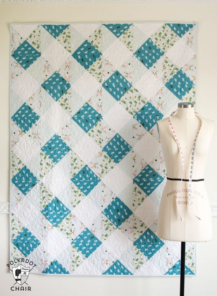 45 easy beginner quilt patterns and free tutorials polka Elegant Simple Quilt Block Patterns Gallery