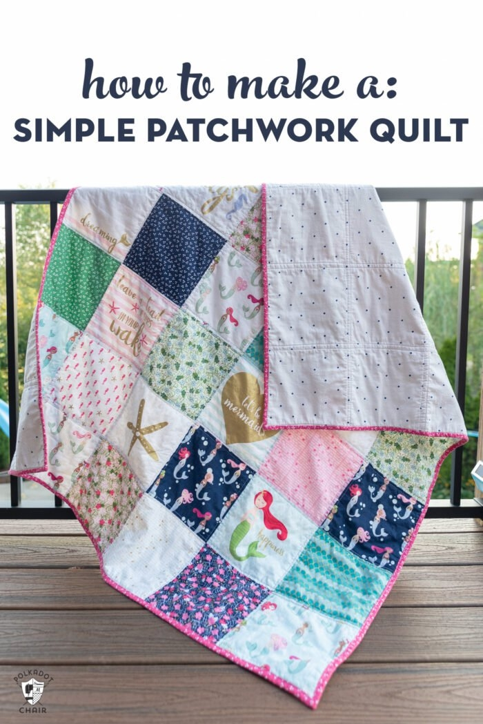 45 easy beginner quilt patterns and free tutorials polka Quilt Patchwork Patterns