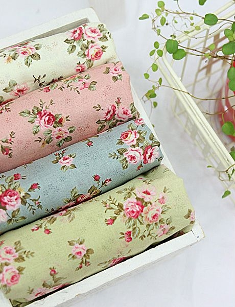 4color antique mini rose series korean quilt fabric for Modern Vintage Floral Quilt Inspirations