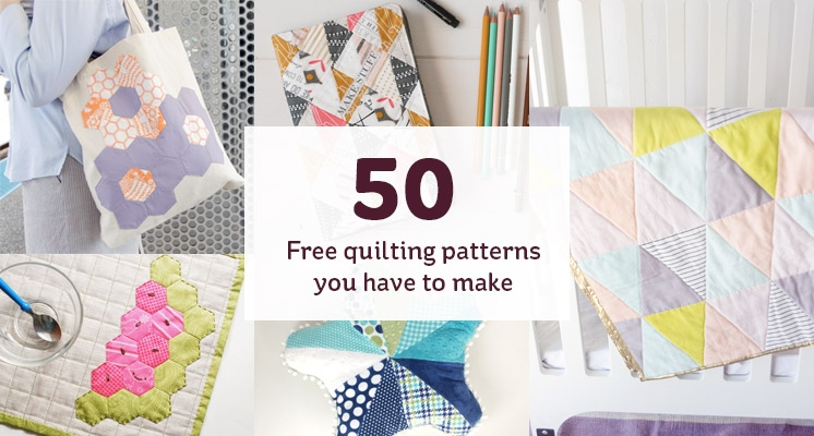 50 free quilting patterns to make hobcraft blog Cool Patchwork Quilt Free Patterns Gallery