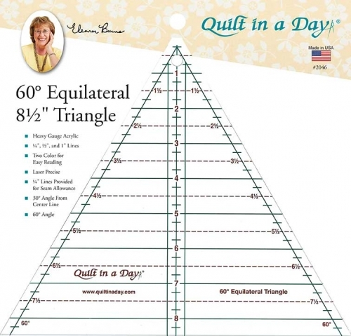 60 degree 85 inch triangle ruler quilt in a day Cozy Quilt Patterns Using 60 Degree Triangle Inspirations