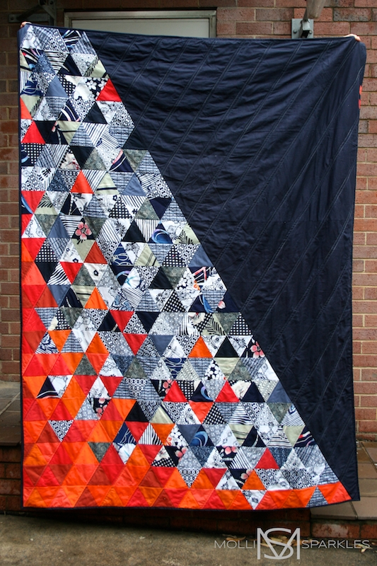 7 equilateral triangle quilts to inspire plus a pillow Cozy Equilateral Triangle Quilt Gallery