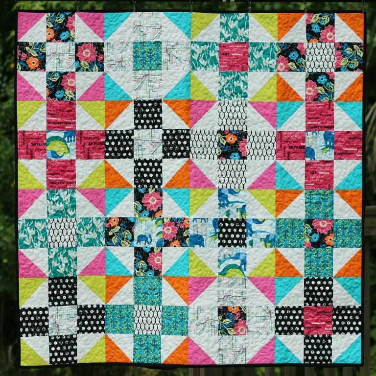 7 free fat quarter quilt patterns Modern Quilt Pattern Using Fat Quarters