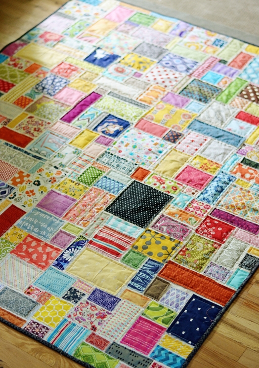7 fresh and fun quilt patterns for beginners scrap fabric Modern Easy Scrappy Quilt Patterns Gallery
