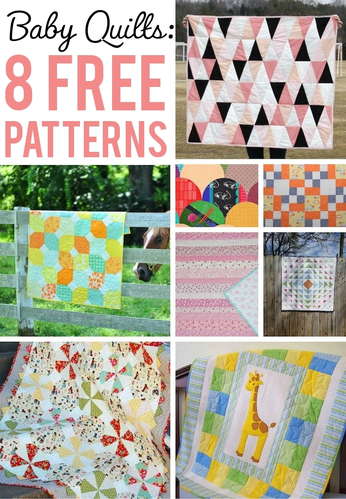 8 free ba quilt patterns that are too cute to resist Interesting Easy Crib Quilt Patterns Gallery