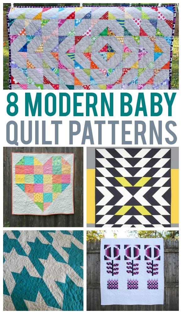 8 scrap friendly modern ba quilts Cozy Quilt Patterns For Children
