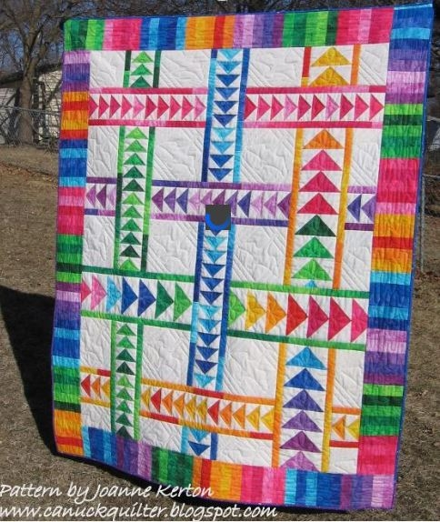 8 stunning flying geese quilt patterns join the flock Quilt Pattern Flying Geese Variation