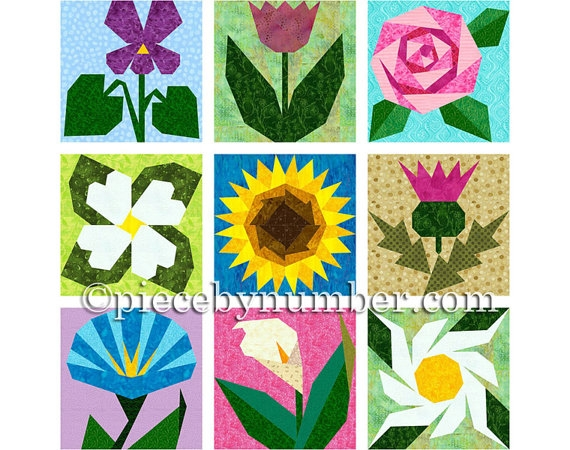 Permalink to Cozy Flower Quilt Block Patterns