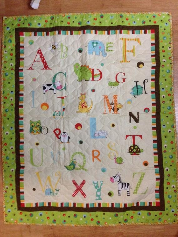 a b c panel ba quilt Unique Baby Quilt Panels To Sew
