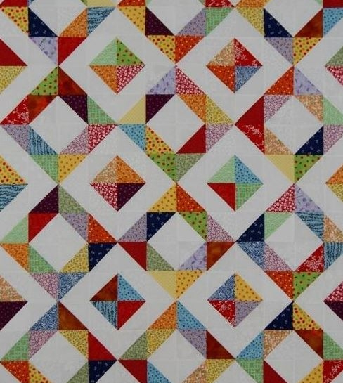 a beautiful collection of half square triangle quilt Cool Half Square Triangle Quilt