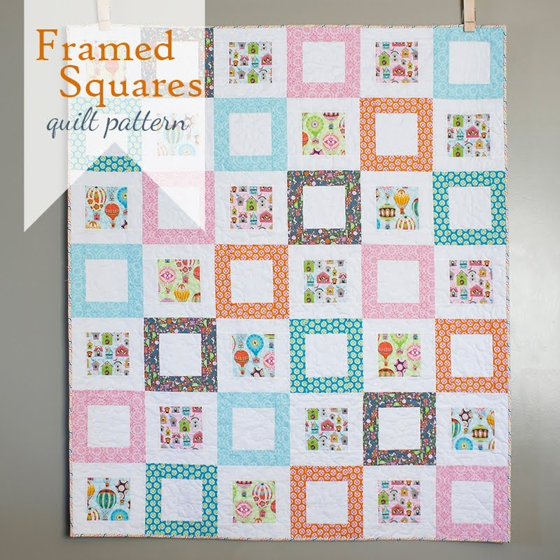 a bright corner framed squares free quilt pattern Stylish Quilt Patterns With Squares