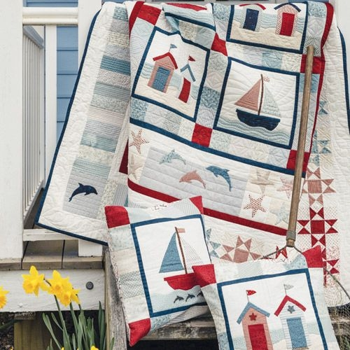 a day the sea quilt and cushion set Cozy By The Sea Quilt Pattern Gallery