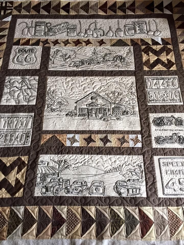 a great finish from last week on a super cute quilt the Modern Vintage Tin Quilt Pattern