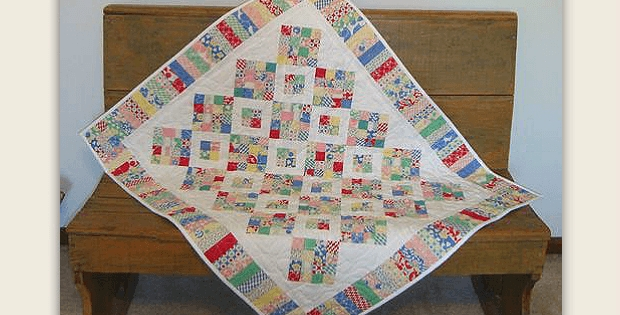 a pretty vintage look quilt from scraps quilting digest Vintage Look Quilts