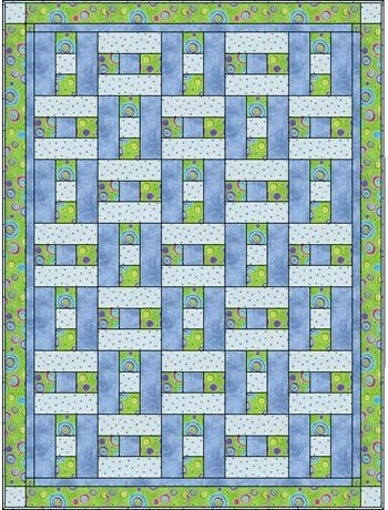 a simple h block but looks like basket weaving only 3 Elegant 3 Fabric Quilt Idea Gallery