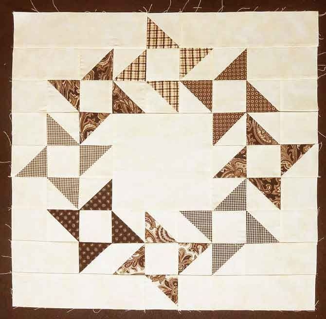 a variation of the friendship star quilt block patchwork Quilt Pattern Flying Geese Variation