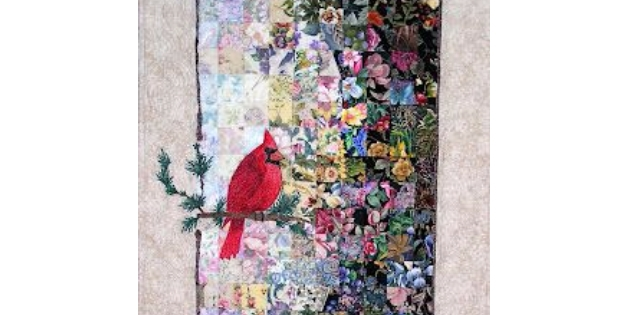a watercolor quilt to display your cardinal quilting cub Cozy Watercolor Quilt Patterns Gallery