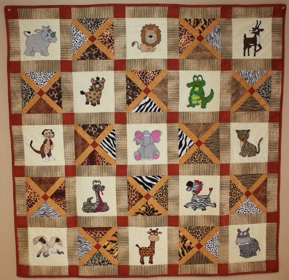 african safari animal applique pdf ba quilt pattern easy Stylish Animal Print Quilt Patterns Inspirations