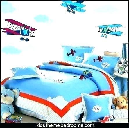 airplane toddler bedding rocard Unique Vintage Planes Quilt Set Inspirations