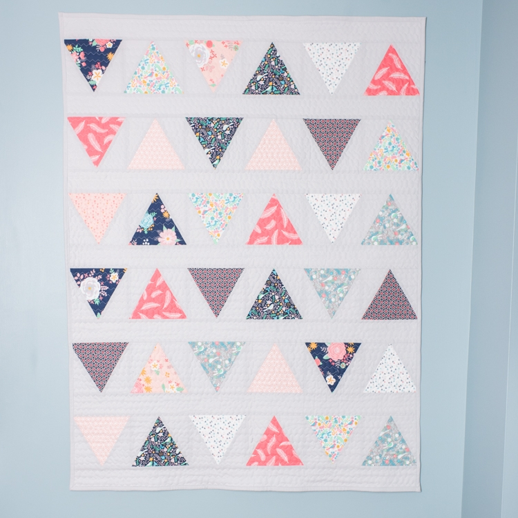 all the ba quilts triangle pop quilt pattern quilty love Interesting Triangle Baby Quilt Inspirations