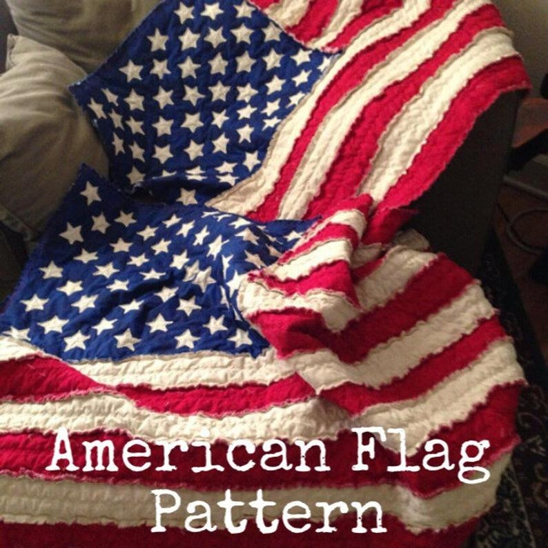 american flag rag quilt pattern Cool American Flag Rag Quilt Pattern Gallery