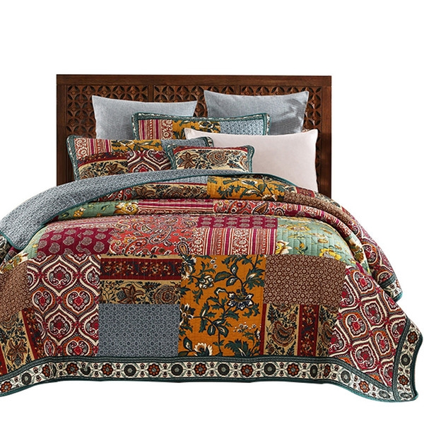 american patchwork bedspread quilt set vintage quilted bedding handmade quilts bed covers king queen full size coverlet double duvet covers comforters Interesting Vintage Quilt Covers Gallery