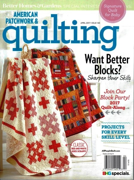 american patchwork quilting april 2017 issue 145 Elegant American Patchwork And Quilting Patterns