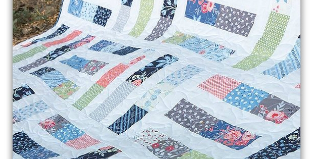 an easy quilt from jelly roll strips quilting digest Modern Jelly Roll Strip Quilt Patterns Gallery