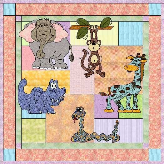 animal quilt patterns free my jungle babies quilt pattern Stylish Applique Quilt Patterns For Children Inspirations