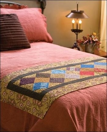annies attic bed runners using precut fabrics quilting Elegant Bed Runner Quilt Patterns