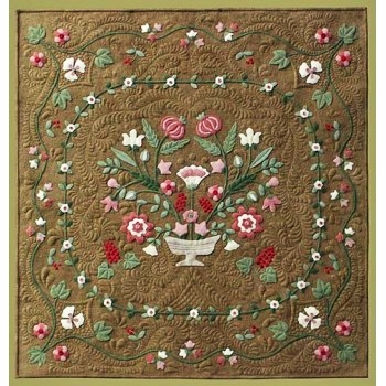 antique flower garden wool applique quilt pattern Cozy Quilting Applique Patterns
