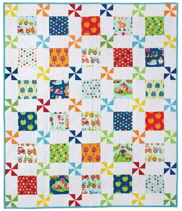 apple farm quilt pattern download kidsquilts2 farm quilt Interesting Crib Size Quilt Patterns