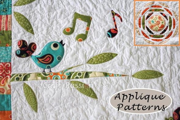 applique patterns songbird tree sun craft passion free Cozy Quilting Applique Patterns