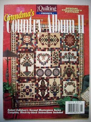 applique quilt pattern the dallas album 1500 picclick Interesting Grandmas Country Album Quilt Pattern