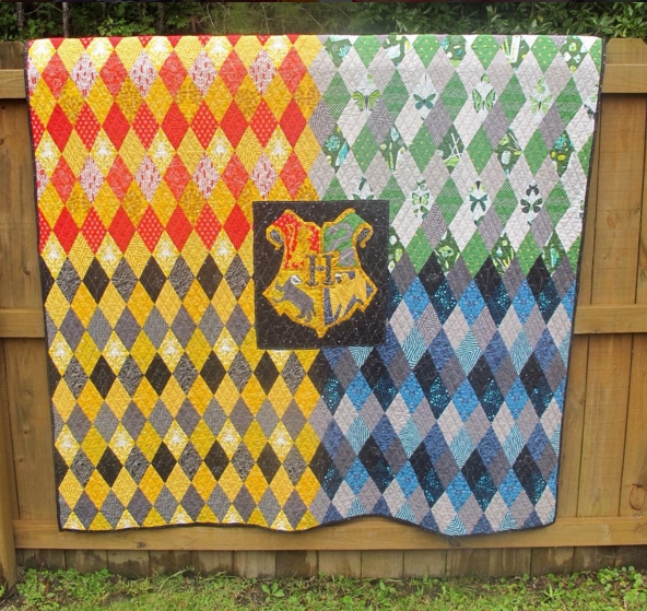awesome harry potter quilt merryrad the inner crest Cozy Fresh Harry Potter Quilt Fabric Inspirations