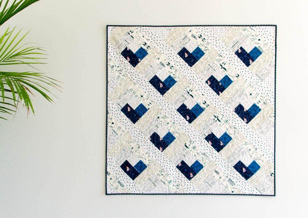 ba heart log cabin quilt free quilt pattern Unique Log Cabin Heart Quilt Pattern