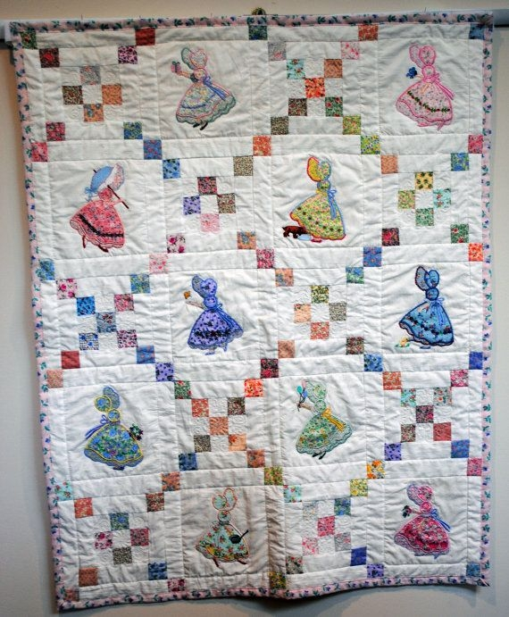ba quilt applique sunbonnet sue quilts sunbonnet Interesting Sunbonnet Sue Quilt Pattern
