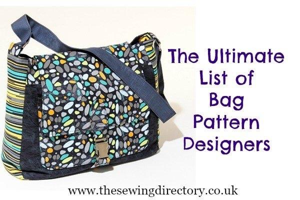 bag patterns Modern Quilted Messenger Bag Pattern