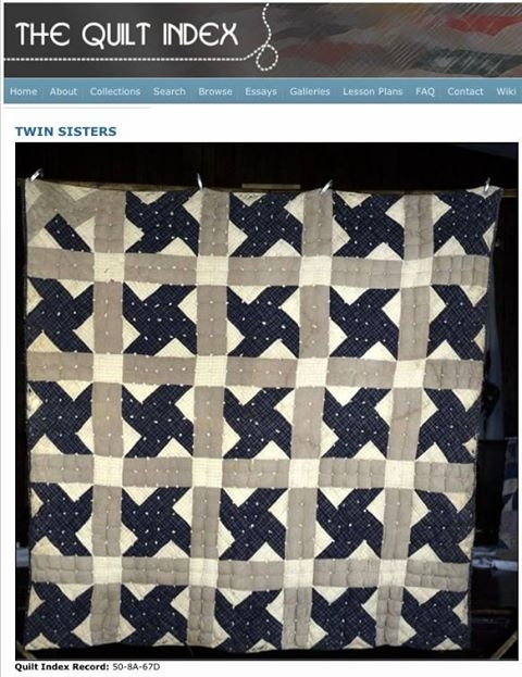 barbara brackmans material culture twin sisters in morris Interesting Twin Sisters Quilt Pattern