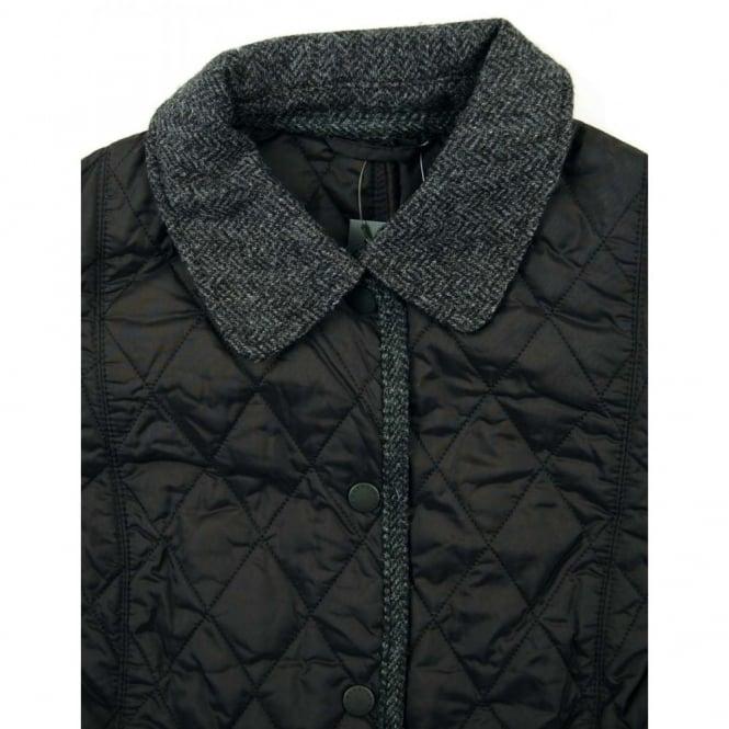 barbour ladies vintage tweed quilt jacket black Cool Barbour Vintage Tweed Quilted Jacket