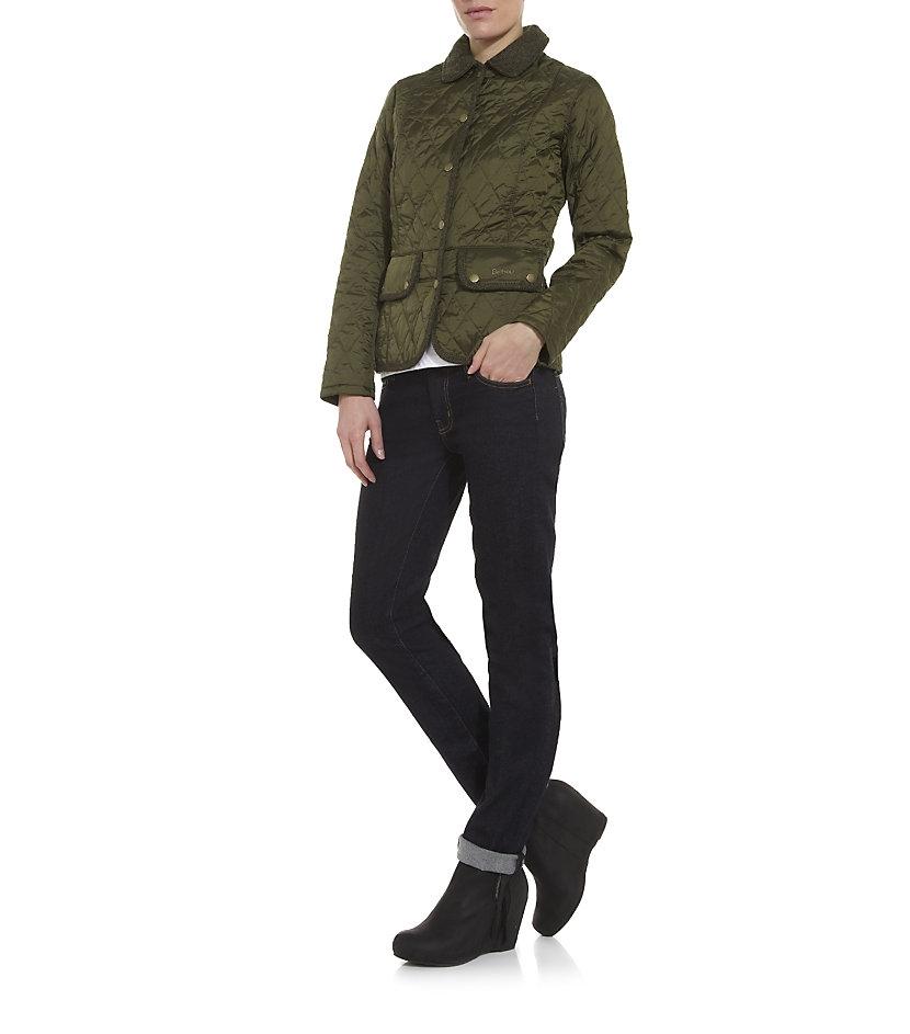 barbour vintage tweed quilted jacket in green lyst Cool Barbour Vintage Tweed Quilted Jacket