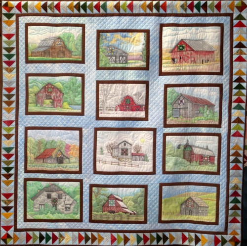 barn quilt trails a 12 block crayola coloring and embroidery pattern Interesting Embroidery Quilt Patterns Gallery