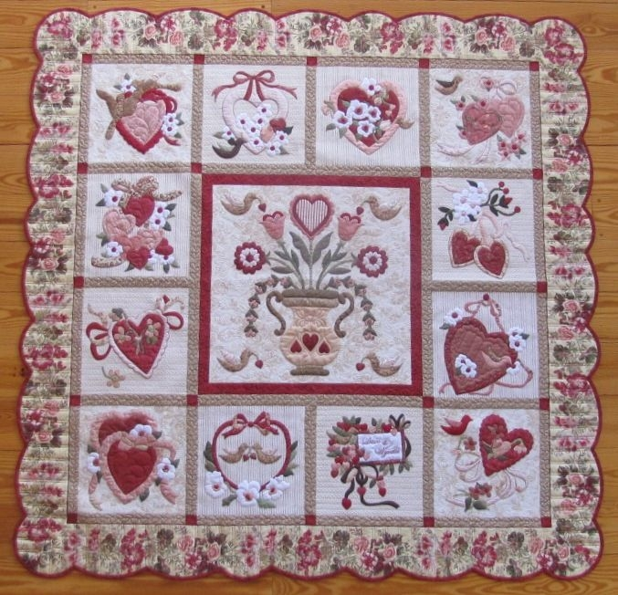 baseball quilt valentines day quilts applique quilts Unique Vintage Valentine Quilt Gallery