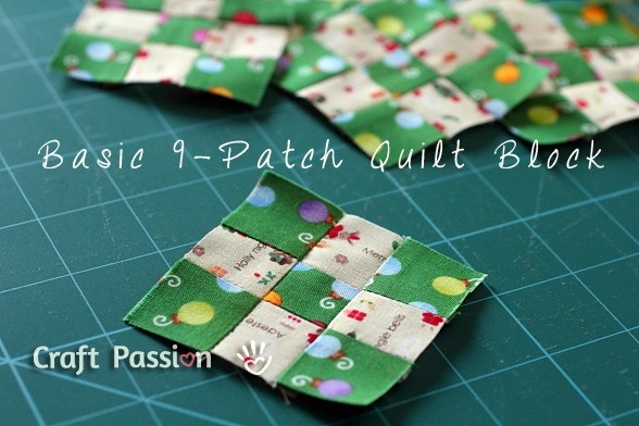 basic 9 patch quilt block free quilt pattern craft passion Interesting Nine Patch Quilt Patterns Easy