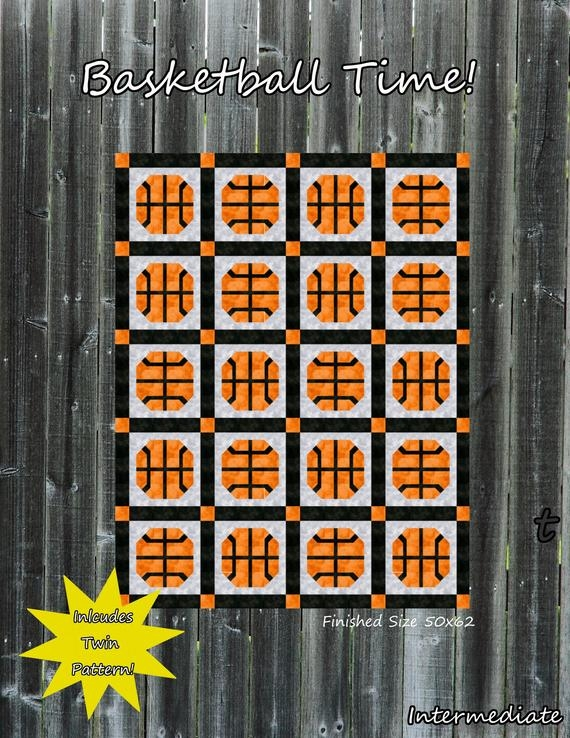 basketball time lap or twin quilt pattern Cool Basketball Quilt Pattern Gallery