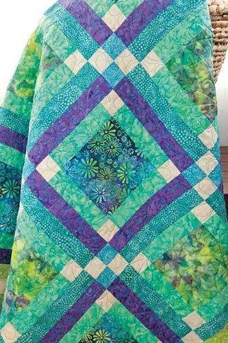 batik fabric quilt kit easy street blue green aqua batik Cool Batik Fabric Quilt Patterns Inspirations