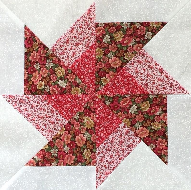 beautiful 9 double pinwheel quilt pre cut block kits lk Modern Double Pinwheel Quilt Pattern Inspirations