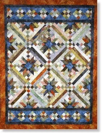 beautiful quilt using stonehenge fabric from northcott Stylish Stonehenge Quilt Patterns