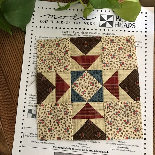 betsys best quilts and more moda blockheads week 21 Quilt Pattern Flying Geese Variation